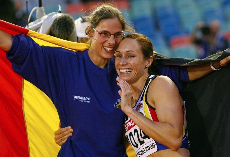 Tia Hellebaut en Kim Gevaert (zelfs twee keer) pakten in 2006 goud op het EK atletiek.
