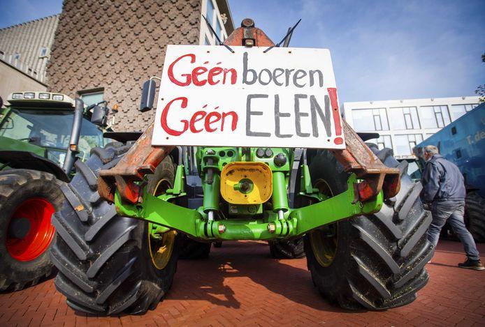 Het boerenprotest in Arnhem.