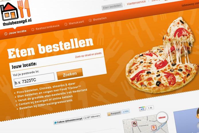 Screenshot: thuisbezorgd.nl