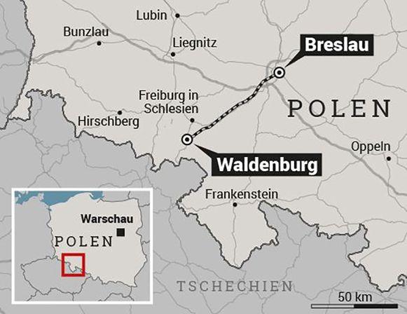 De regio rond Waldenburg in Polen.