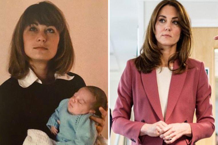 Kate lijkt als twee druppels water op haar moeder.