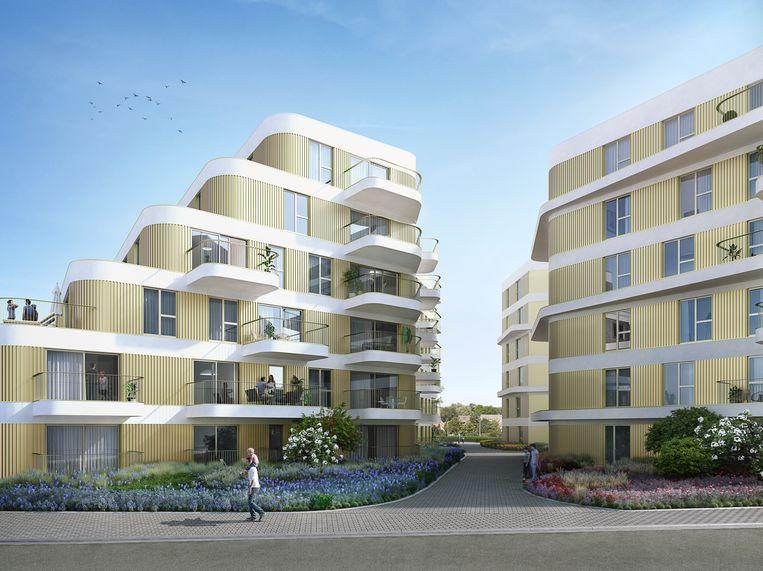 Het project bestaat uit vier kleinschalige gebouwen.