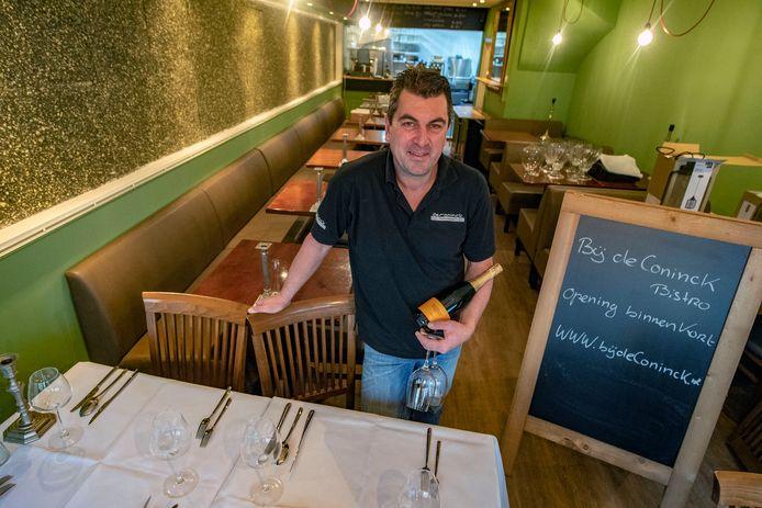 Maurice de Conick (foto) opent een nieuwe bistro in de Bosstraat: Bij de Coninck Bistro. Nu is hij nog bezig met verbouwen, maar het restaurant is inmiddels wel ver af.
