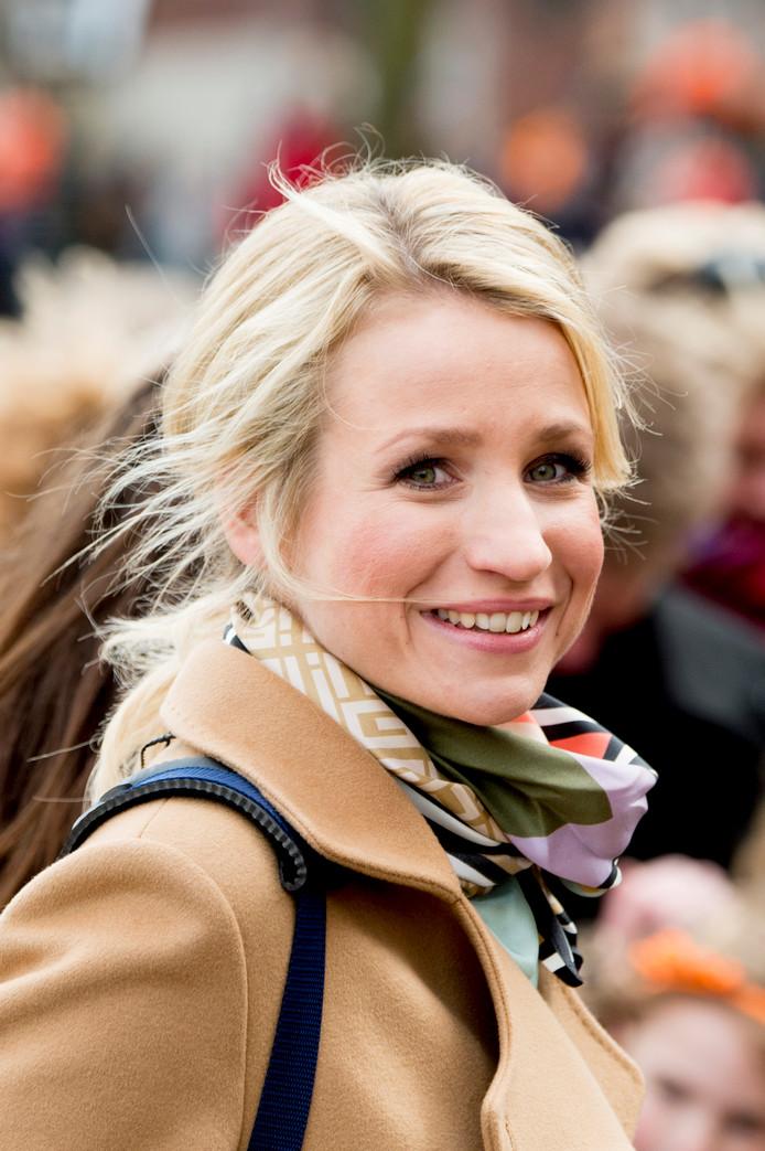 Dionne tijdens Koningsdag in Zwolle.