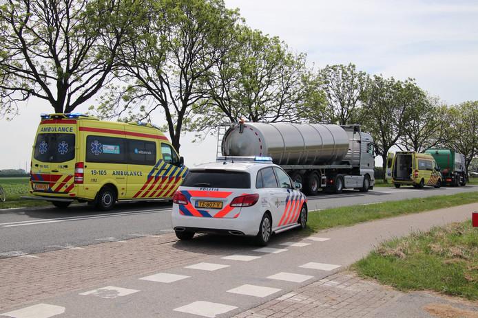 Na het ongeluk werden twee ambulances opgeroepen
