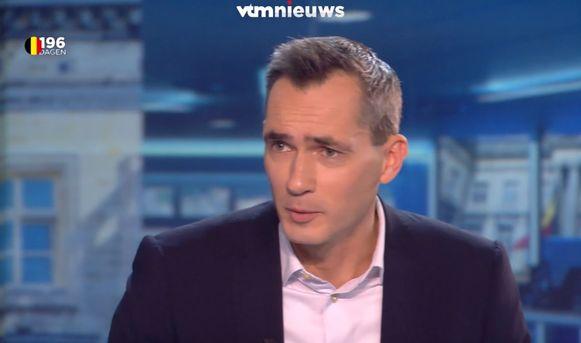 Lorin Parys in de studio van VTM Nieuws