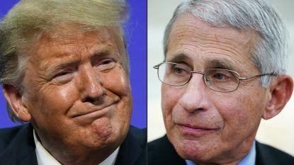 """Trump benadrukt """"goede relatie"""" met medisch topadviseur Fauci"""