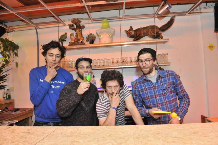 Koray, Vincent, Bram en Benjamin.