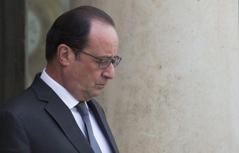De Franse president Hollande. Beeld anp