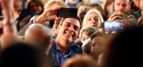 Pedro Sánchez op winst voor verkiezingen Spanje: 'Ik stem mijn hele leven al socialistisch'