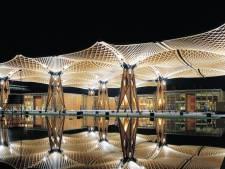 Nachtelijk Tilburg wil pronken met licht: kroepoekdak als 'stralende kroon' en Stationsstraat als verlichte stadsentree