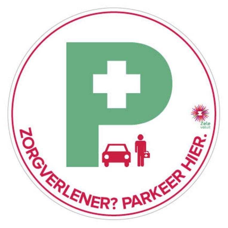 Met een zogenaamde 'zorgsticker' kunnen inwoners aangeven dat zorgverleners als dokters, thuisverplegers of kinesisten wel even voor de garagepoort of oprit mogen staan. Deze sticker wordt gebruikt in Zele.