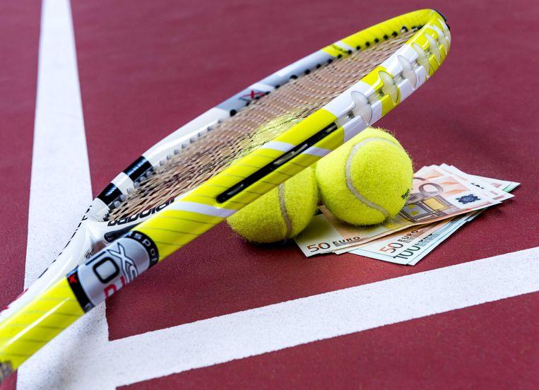 Illustratie rond matchfixing, omkoping in het internationale tennis.  Beeld ANP XTRA