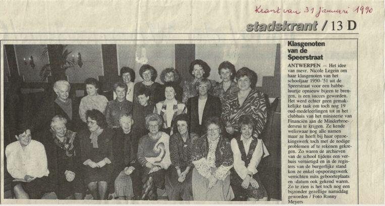 De eerste klasreünie haalde in 1990 De Nieuwe Gazet.