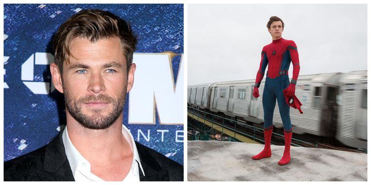 Chris Hemsworth hielp Tom Holland aan de rol van 'Spider-Man', zegt 'ie.