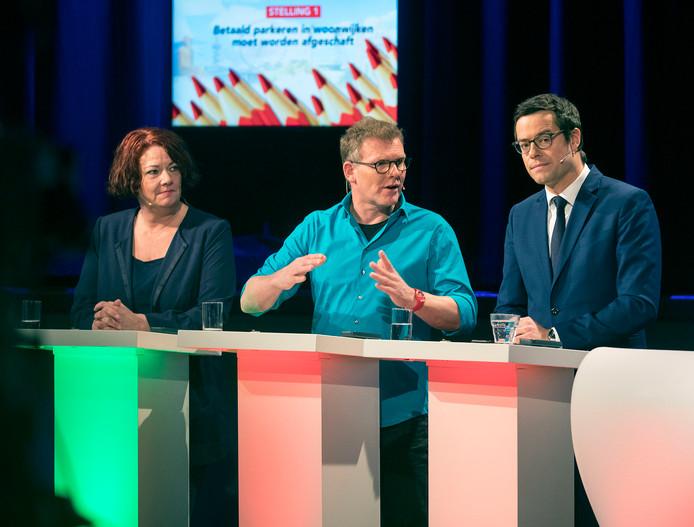Van links naar rechts: Karen Gerbrands (PVV), Joris Wijsmuller (HSP) en Karsten Klein (CDA).