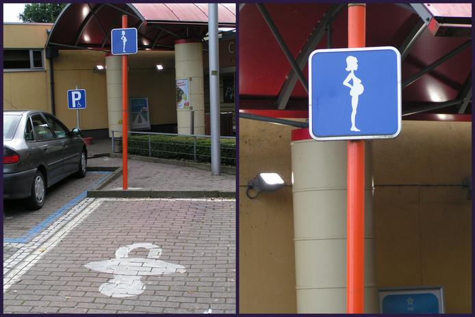 Een parkeerplaats voor zwangere vrouwen in België.