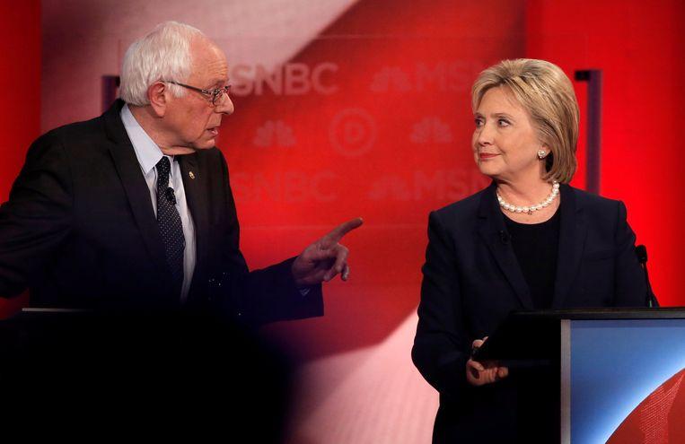 Bernie Sanders en Hillary Clnton