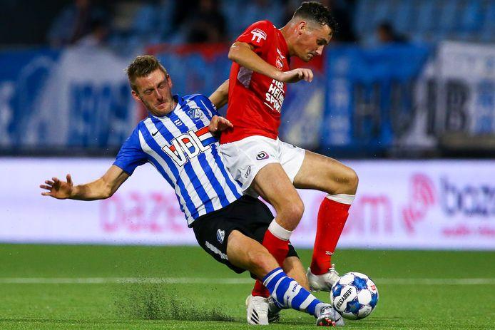 Kay van de Vorst was in de derby met FC Eindhoven nog basisspeler bij Helmond Sport.