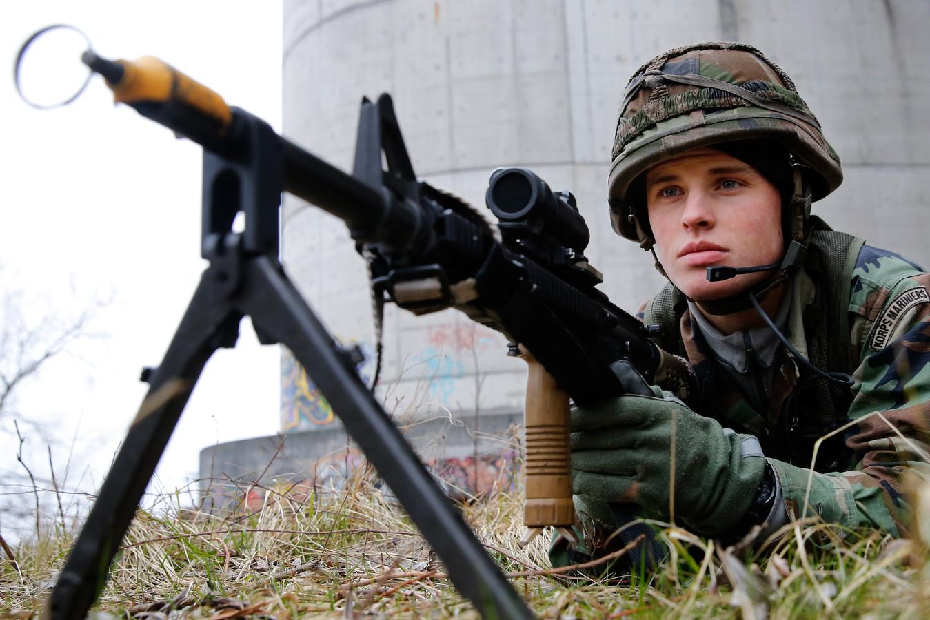 Een opgestelde mitrailleur (foto ter illustratie)