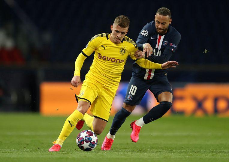 PSG speelde hun laatste CL-wedstrijd al achter gesloten deuren, tegen Dortmund (hier met Thorgan Hazard).