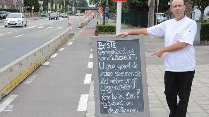 De Gastronoom is wegenwerken beu en.... nodigt gemeentebestuur uit om te komen eten
