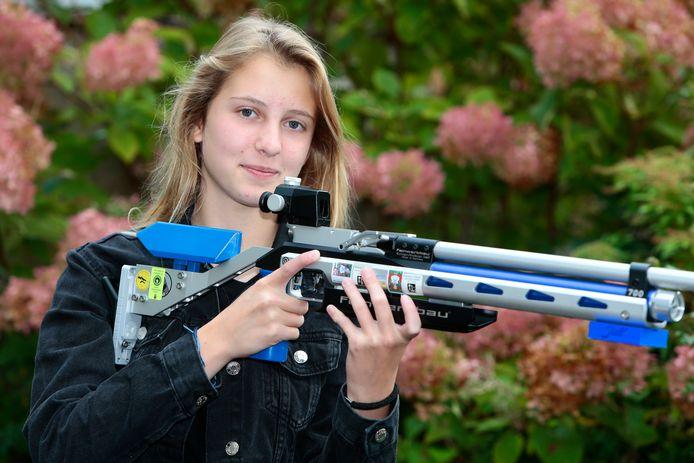 Jill van der Haven, lid van SV Alphen, werd afgelopen weekeinde Nederlands kampioene bij de junioren.
