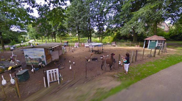 Het dierenparkje zoals het was aan de Colmschaterstraatweg.