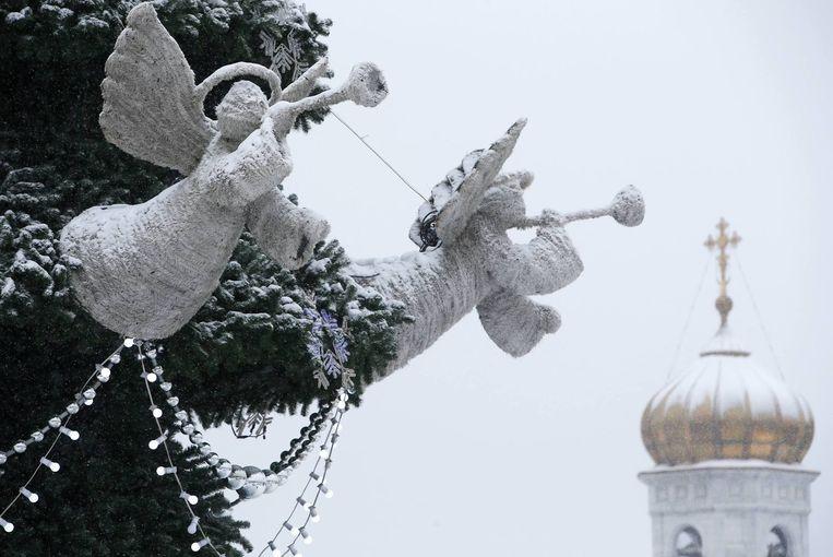 In Rusland vierde men afgelopen woensdag kerstmis. Beeld reuters