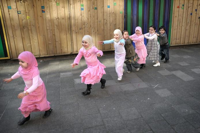 Speelkwartier bij de islamitische As-Siddieq-school in Amsterdam.