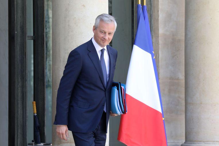 De Franse minister van Economische Zaken, Bruno le Maire, schat dat de 'digitaks' jaarlijks een half miljard euro zal opleveren.  Beeld AFP
