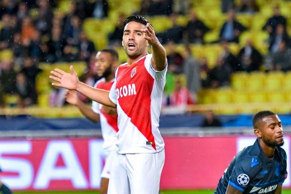 Falcao in het Champions League-duel met AS Monaco vorig seizoen tegen Club Brugge.
