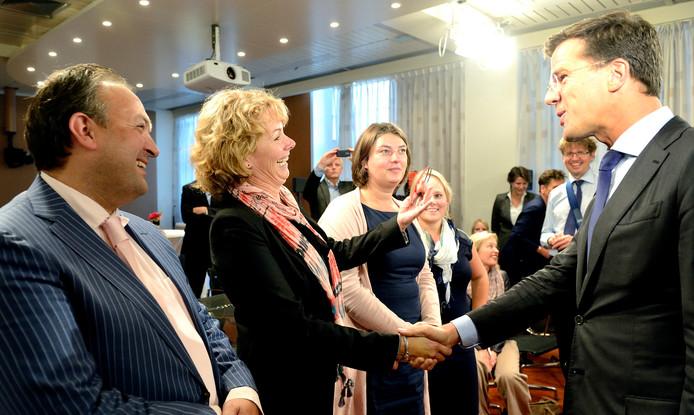 Rijan van Geene was in 2013 een van de Leraren van het Jaar. Premier Mark Rutte feliciteerde haar en de andere winnaars van dat jaar.
