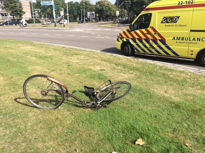 De fietser raakte gewond bij de aanrijding