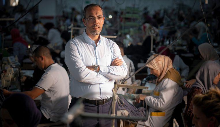 Jamal Laghmouchi, directeur bij Loratex in Tanger, Marokko.  Beeld Freek van den Bergh / de Volkskrant