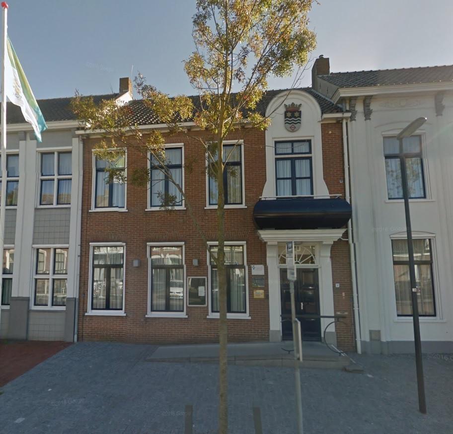 Het gemeentehuis van Noord-Beveland in Wissenkerke