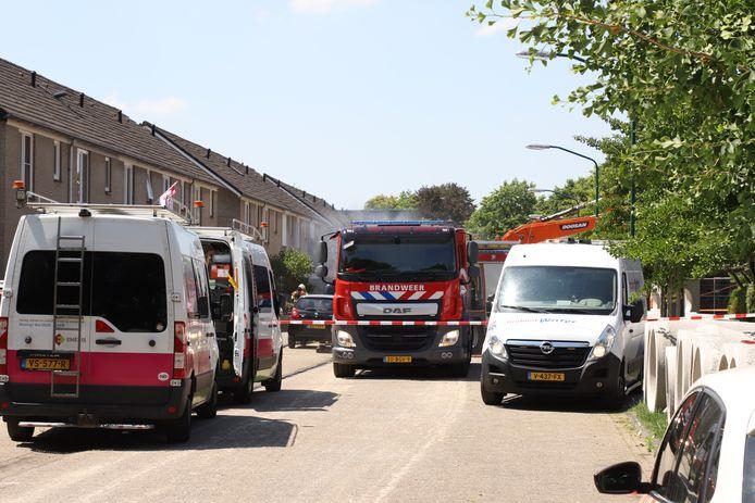 Gaslek in Sint Oedenrode.
