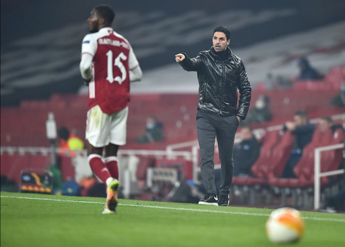 Trainer Mikel Arteta van Arsenal.