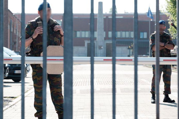 Gevangenispersoneel voor de penitentiaire inrichting in Lantin (archieffoto).