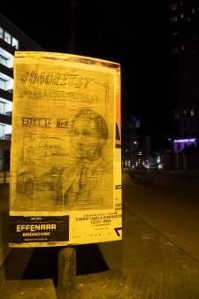Op laatste moment affiches geplakt voor Raadsman De Raad in Eindhoven