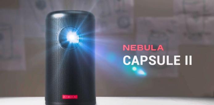 De Nebula II, is volgens het bedrijf zelf, 's werelds eerste 'zakbioscoop'.