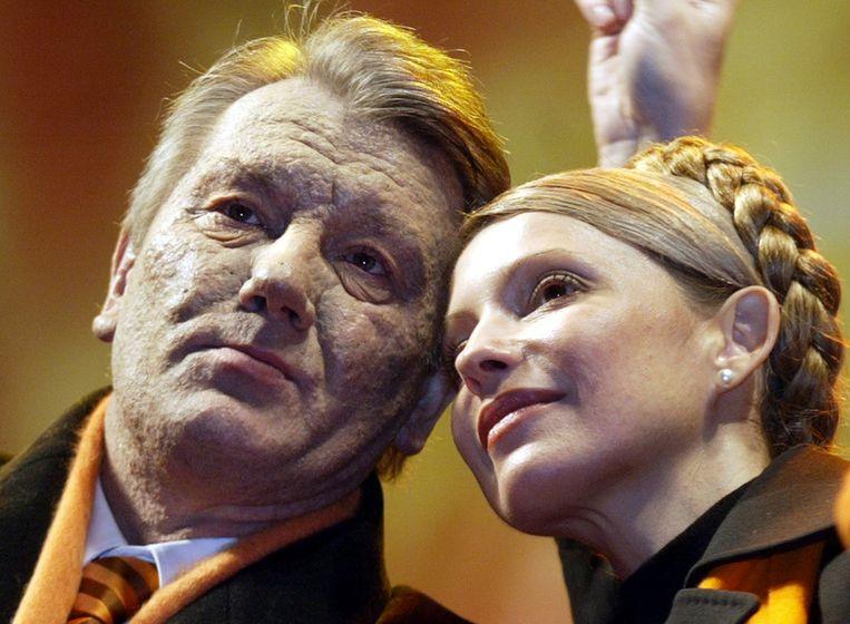 Tijdens de Oranje Revolutie met Viktor Joesjenko Beeld ANP