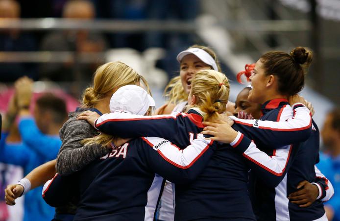 Team USA viert de overwinning