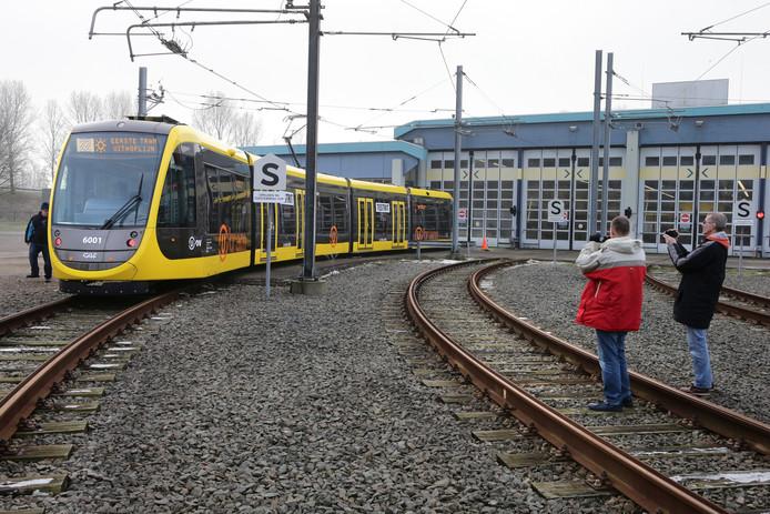 De nieuwe trams voor de Uithoflijn.
