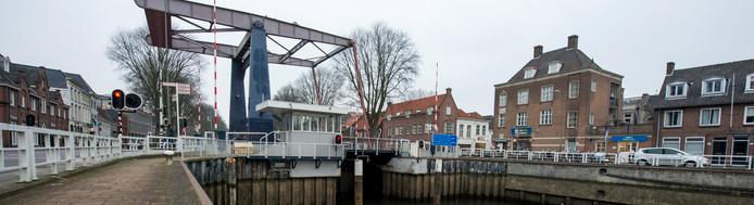 Sluis 0, onderdeel van de plannen voor het Zuid-Willemspark. De gemeente Den Bosch wil miljoenen investeren in de sluis.