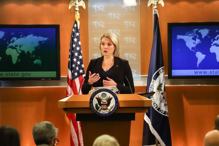 Woordvoerster van het ministerie van Buitenlandse Zaken van de Verenigde Staten Heather Nauert