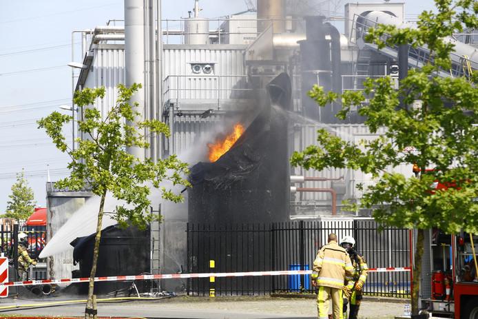 Kort nadat de biogascentrale bij de Rova in Zwolle buiten bedrijf was gesteld, ontstond er begin deze maand brand.