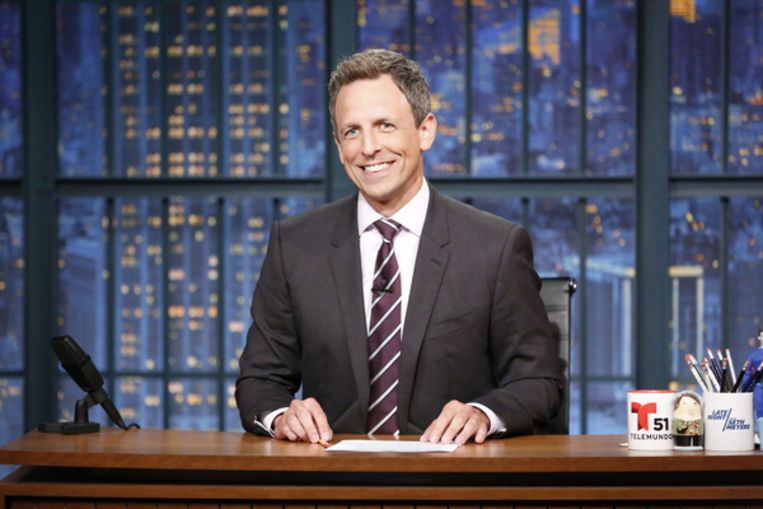 Seth Meyers in Late Night with Seth Meyers Beeld NBCU Photo Bank via Getty Images