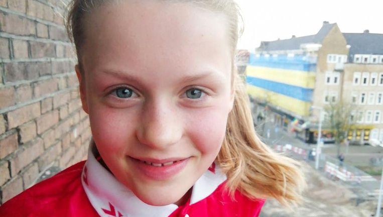 Hanna Wiebes (12) zit op de Anne Frankschool en gaat vwo doen op het Montessori Lyceum. Beeld -