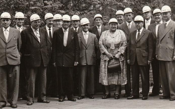 De Heezer raad op 6 juni 1959 op bezoek bij de Staatsmijnen in Geleen.